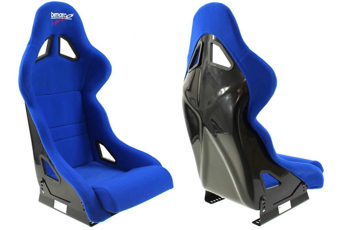 Fotel Sportowy Bimarco Expert II Welur Blue FIA - GRUBYGARAGE - Sklep Tuningowy